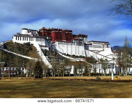Exterior of holy Potala Palace in Lhasa, Tibet, China
