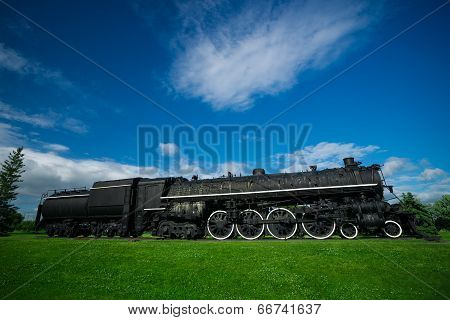 Old, Antique Steam Train Engine