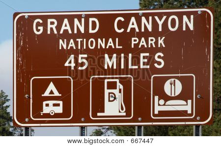 Grand Canyon Road Sign
