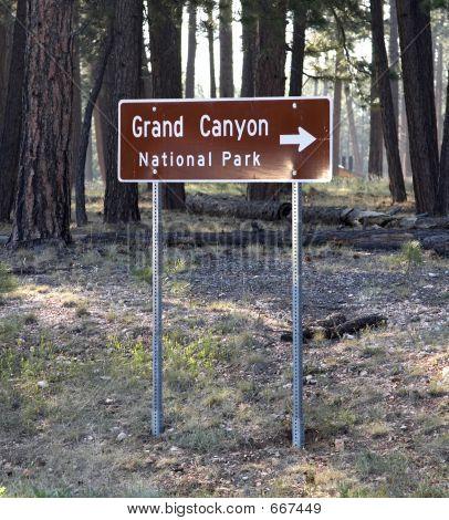 Grand Canyon Road Sign