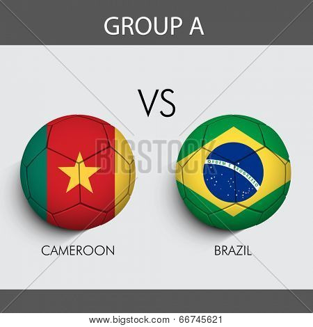 Group A Match Cameroon v/s Brazil countries flags