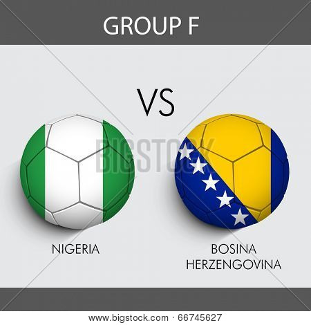 Group F Match Nigeria v/s Bosnia countries flags