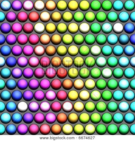 Un arco iris de bolas