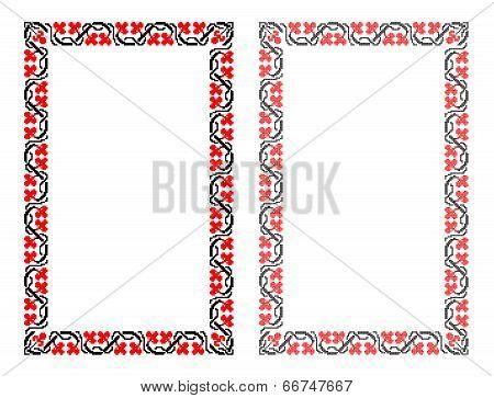 Ukrainian national pattern border