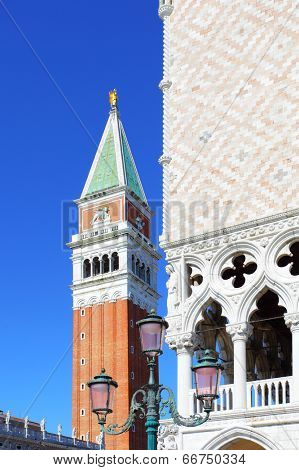 Campanile and Doge's palace in Venice