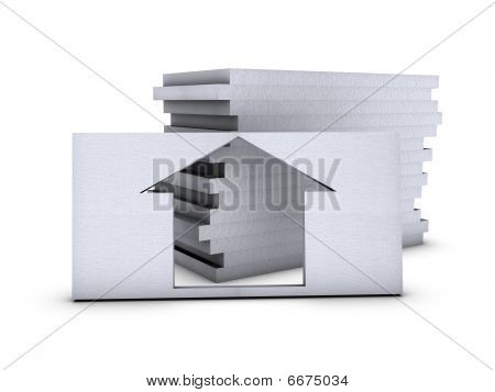 House In Polystyrene