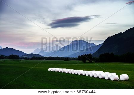 Sunset Landscape In Austrian Alps