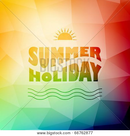 Vector Abstract Background With Summer Text