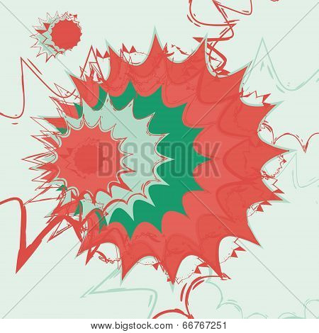 Jagged lines abstract vector background