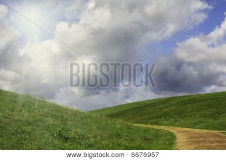 A Trail Between Meadows