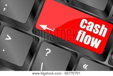 Cash Flow Words Button On Keyboard Keys