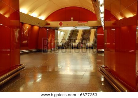View Of Subway Elevators