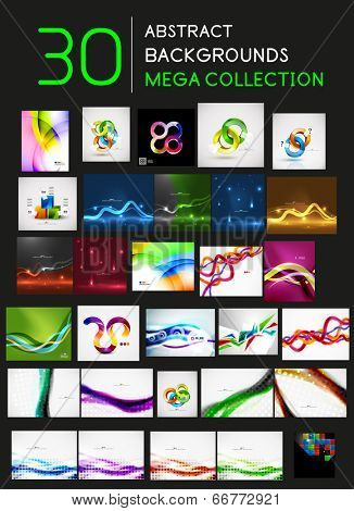 Huge mega collection of 30 abstract backgrounds with copy space