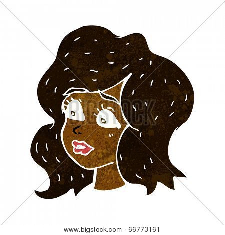 cartoon woman looking concerned