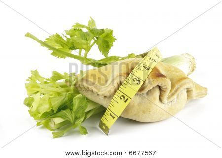 Celery With Pasty And Tape Measure