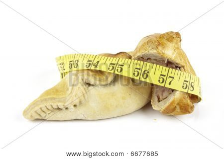 Pasty With Pork Pie And Tape Measure