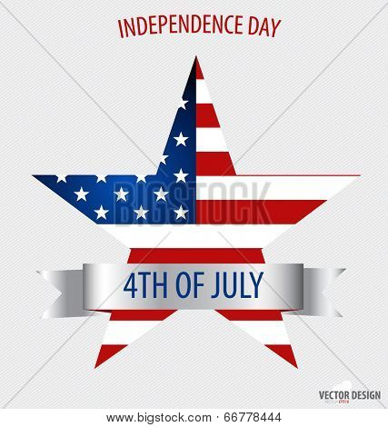 Happy independence day card United States of America. American Flag paper design, vector illustration. Stock Vector Illustration: