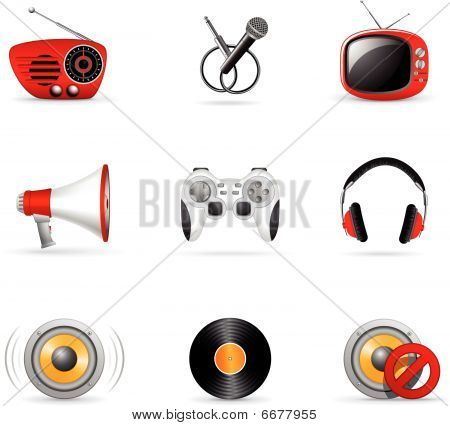 Media Icons And Music Icons 3