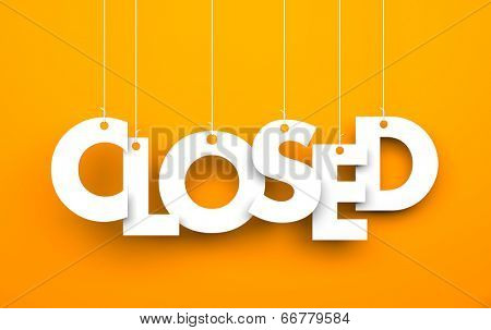 Closed. Text on the string