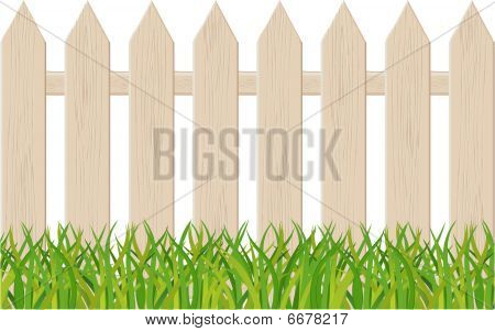 The fence isolated on a white background