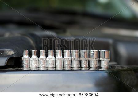Close-up Tools Kit Detail