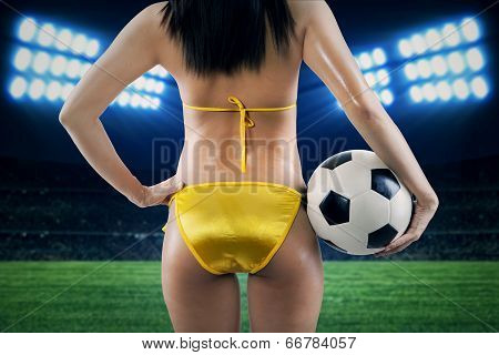 Supporter At Soccer Stadion