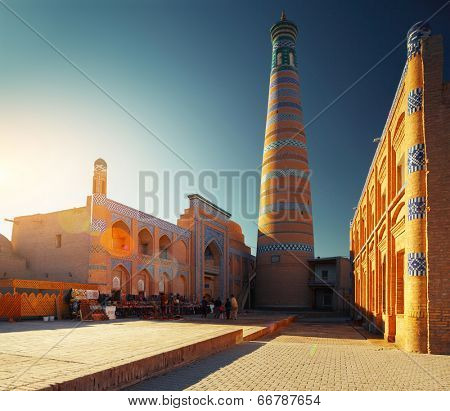 Islom Xoja complex in the city of Khiva. Uzbekistan