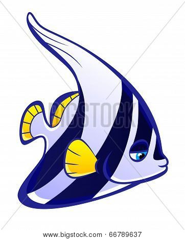 Cartoon Pennant Fish