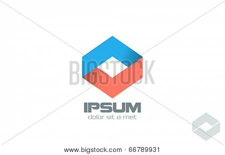 Corporate Business vector logo design. Infinity loop abstract icon. Ribbon infinite looped shape