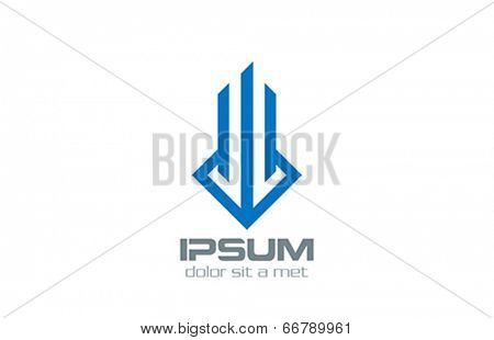 Real Estate vector logo design. Luxury Fashion Concept. Creative stylish emblem.