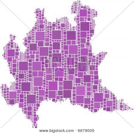 Map of Lombardia (Italy)