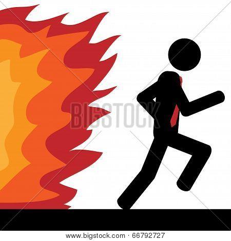 Run from fire