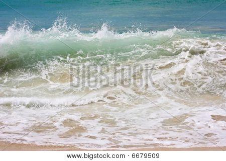 wave on a choppy sea