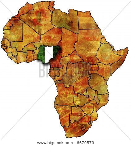 Nigeria Old Map