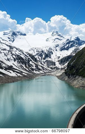 Reservoir In The Alps
