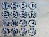 picture of dial pad  - Street phone both dialing pad with obsolete keys - JPG