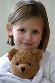 image of stuffed animals  - little girl - JPG