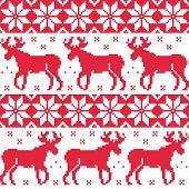 picture of scandinavian  - Christmas vector background  - JPG