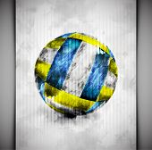 pic of 1-10  - Volleyball ball in watercolor style - JPG
