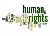 pic of human rights  - Human rights word cloud image with hi - JPG