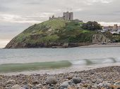 image of anglesey  - Criccieth Castle in North Wales on the Anglesey peninsula dates from the 13th century - JPG