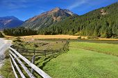 picture of log fence  - Rural idyll - JPG