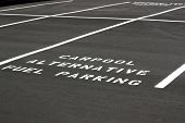 foto of fuel economy  - Carpool Alternative Fuel Parking space on new parking lot - JPG