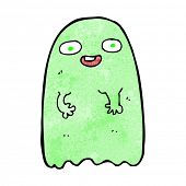 stock photo of funny ghost  - funny cartoon ghost - JPG