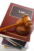 picture of law-books  - Judges legal gavel on a pile of law books - JPG