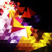 foto of triangular pyramids  - Colorful Triangular Abstract Background - JPG