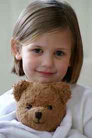 picture of stuffed animals  - little girl - JPG