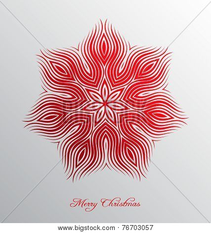 Nice Christmas Background With Abstract Snowflake Embellishment
