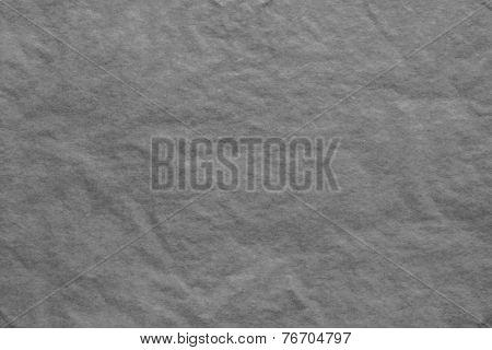 Texture Of Thin Crumpled Dark-gray Paper