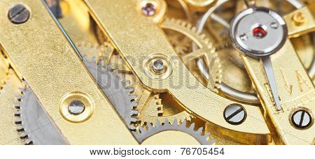 Background From Brass Gear Clockwork Retro Watch